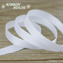 "(10 meters/lot) 3/8"" 10mm White Grosgrain Ribbon Wholesale gift wrap decoration ribbons"