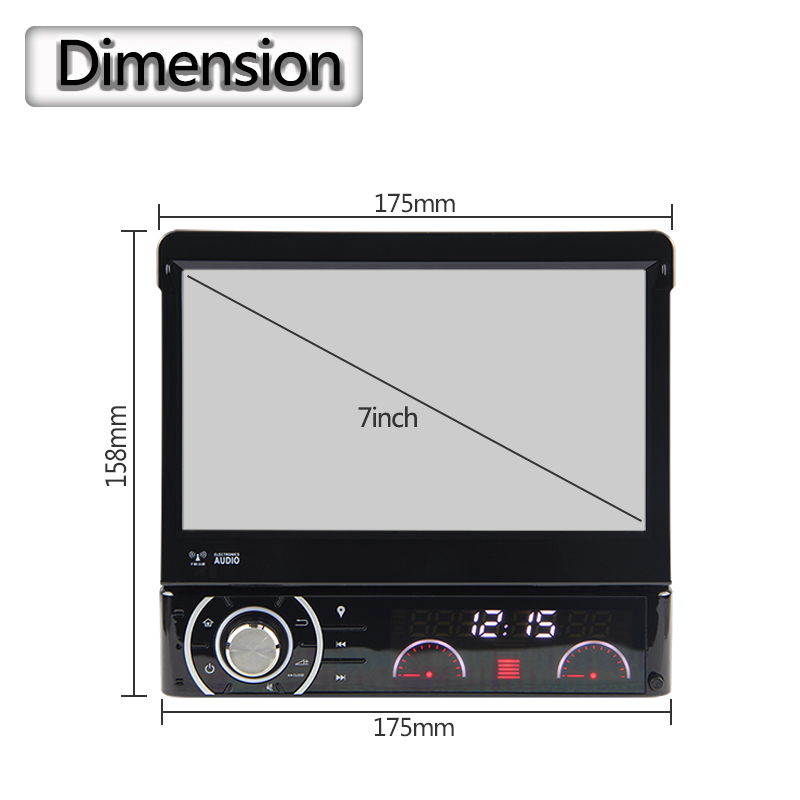 """JSTMAX 1 Din 7"""" Car DVD Player Android 6.0 Video Hd Multi-touch Screen Automotivo Stereo Radio With 4g Mondom GPS Navigation"""