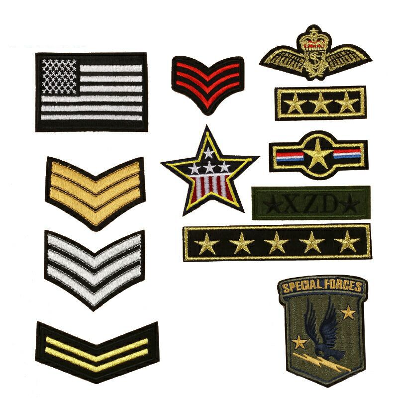 Home & Garden Apparel Sewing & Fabric Outdoor Tactical Emblem 100% Embroidered Five-star Eagle Head Spartan Helmet Cloth With Epaulettes Badge Patches Patch Badges 2019 New Fashion Style Online