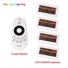 Manual universal testing Mi light remote led control + 4x ww/cw controller for led strip light(China)