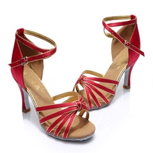 High Quality Satin Upper Latin Dance Shoes Ballroom Shoes for Women High Heel  More Colors Dance Shoes Sale Promotion