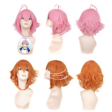 Ensemble Stars hair jewelry 35cm 160g synthetic pink/orange hair accessories for Tori Himemiya cosplay wigs(China)