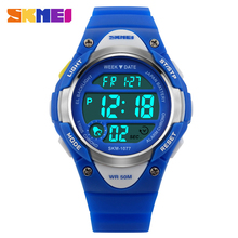 Children Digital Watch Kid Boy Girl Outdoor Baby Sport Watch LED Silicone Alarm Stopwatch Wristwatch Fashion Shock SKMEI Clock
