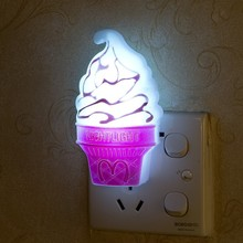 1pcs Novelty LED Ice Cream Night Light Home Decoration Bedroom Lamp led Nightlight for Baby Kids Birthday Christmas Night Lamps