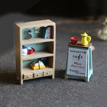 Mini Resin Furniture Ladder Micro Fairy Garden Miniatures Figurines Decorations Toys Gifts Terrarium Ornament Accessories Props(China)