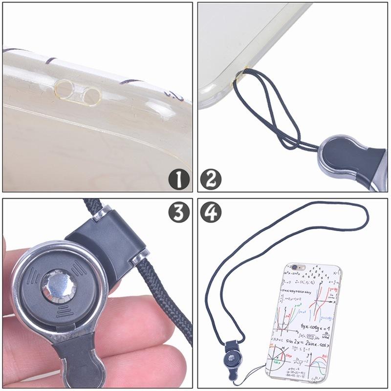 Portefeuille Detachable Long Lanyard Neck Strap For Key id badge holder Xiaomi mi 5 mi5 iPhone 7 6 keycord Mobile Phone Lanyards (5)