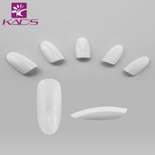 KADS 500pcs/bag Clear/ Natural / White Nail Art Round End Oval False Nails Fake Nails Tips French Manicure Artificial Nails(China)