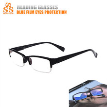 Promotion! Brand Designer Black Half Frame Coating Resin Lens Anti-fatigue Reading Glasses Women Men Presbyopic Eyeglasses.G157