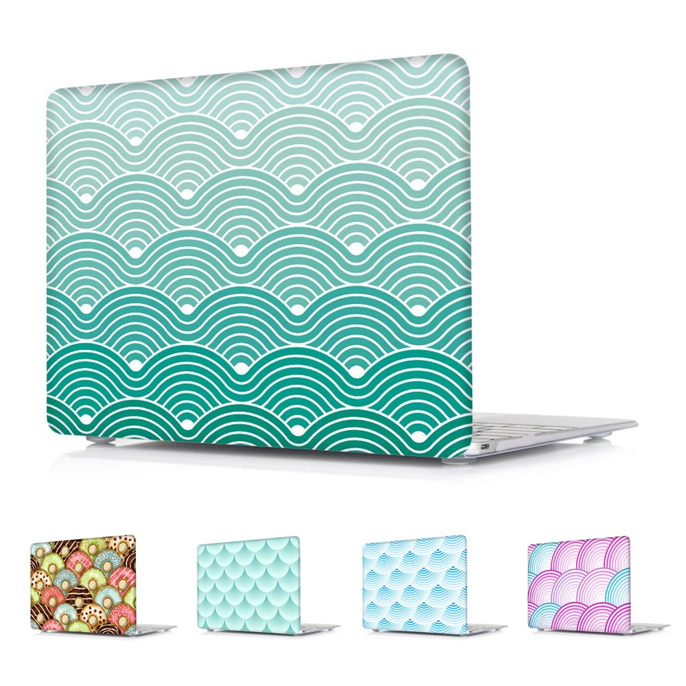 Crystal Hard Shell Case for Apple Macbook Air 13.3 A1369 &amp; A1466 Air 11.6 A1465 Pro 13 15 Retina 13 15 Fish scales &amp; Donuts<br><br>Aliexpress