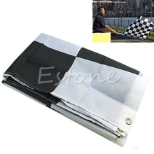 New 90cm*150cm Black White Nascar Flag Checkered Motorsport Racing Banner(China)