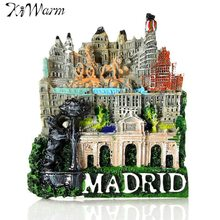 Cute 3D Resin Ornaments Madrid Miniatures Landscape Fridge Magnet Tourist Travel Souvenir Gifts Home Decoration DIY Resin Crafts