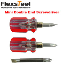 1 piece Non-slip Massage Double End Multi Tip Two Way Slotted and Philips Small Mini Double End Screwdriver