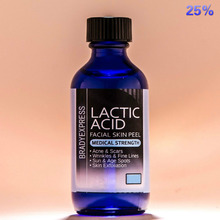 Best Quality LACTIC Acid Skin Peel 25% For Acne, Wrinkles, Melasma, Collagen Stimulation Free Shipping(China)