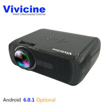 Newest Vivicine Portable Mini LED Projector,Android 6.0 Miracast DLNA Airplay Wireless WIFI Handled Movie Game Home Proyector(China)