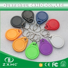 (10pcs/lot) Waterproof RFID ABC keyfob Keychain Key Finder 13.56 MHz Access Control Card