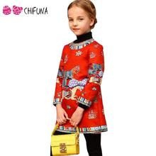 Hot Sale 2016 New Girls Spring Dresses Kids Clothes High Quality Dreamy Horse Jacquard Children Dress Girls Long Sleeves Dress