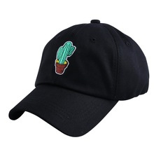 women girl beauty Cactus cacti fashion baseball cap cotton white pink black casual snapback men boy hip hop strapback hats(China)