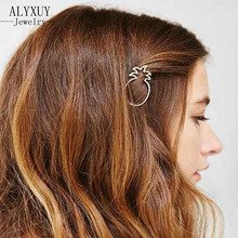 wholesale New fashion hairwear gold color fruit pineapple hairpin hair combs sticks barrettes gift for women girl H395