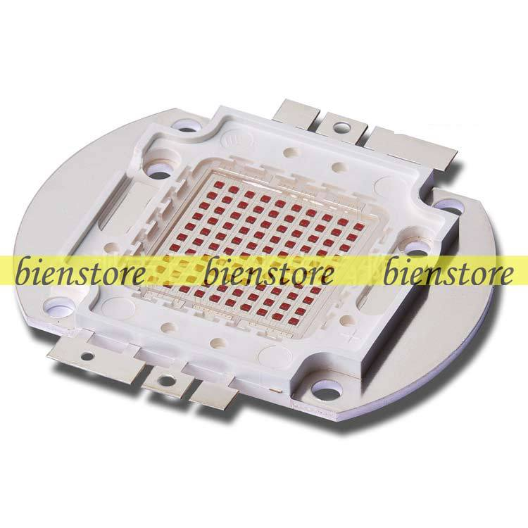 100W 24V 3500mA Square Base Bright Red 620nm~630nm SMD LED Chip Grow Light Lamp Parts<br><br>Aliexpress