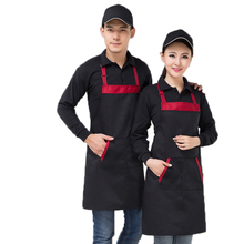 Contrast Color Apron Cooking Chef Bib Apron Custom Home Coffee Tea Shop Restaurant Apron Antifouling Wear Baking Dress Men Women