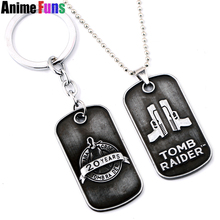 Game Rise of the Tomb Raider 20 Year Celebration Choker Necklace for women man Pendant Lara Croft Keyring Keychain Charm Gift(China)
