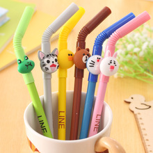 12PCS Novelty Straw pen gift kids birthday party supply gift souvenirs for girl boy baby shower favors