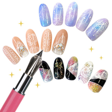 Professional Nail Painting Pen Nail Art Decorations Set Tool for Salon Manicure DIY Drawing with 5 Pen Points
