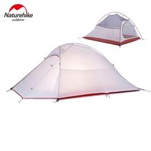 1.2KG Naturehike Tent 20D Silicone Fabric Ultralight 2 Person Double Layers Aluminum Rod Camping Tent 4 Season With 2 Person Mat(China)