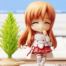 Japan Nendoroid Sword Art Online Figure Asuna PVC Action Figure Collectible For cute Kids new years gift toy T5881