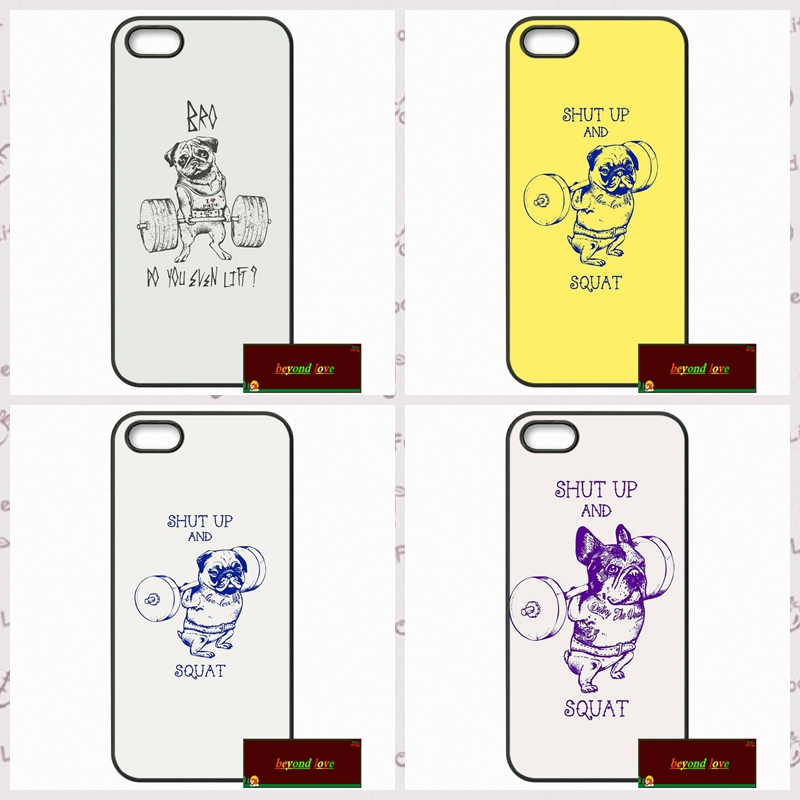 Shut Up And Squat Dog Funny Cover case for iphone 4 4s 5 5s 5c 6 6s plus samsung galaxy S3 S4 mini S5 S6 Note 2 3 4  DE0200