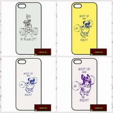 Shut Up And Squat Dog Funny Cover case for font b iphone b font 4 4s