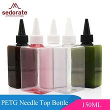 Sedorate 10 pcs/Lot 150ML PET Plastic Empty Refillable Bottles For Cosmetic Needle Top Shampoo Body Gel Container JX105-1(China)