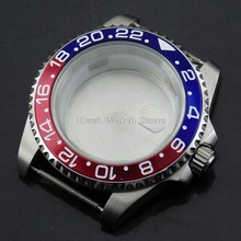 40mm Bliger silver stainless steel watch case Fit ETA 2836,DG2813/3804,Miyota 82 Series movement