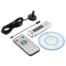 Wholesale 1 pcs USB 2.0 DVB-T Digital TV Receiver HDTV Tuner Dongle Stick Antenna IR Remote  Free /