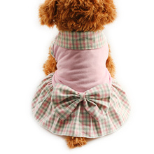 Armi store Plaid lapel Dog Dresses Princess Dress For Dogs Skirt  6071004 Pet Puppy Girl Clothing SuppliesXS, S, M, L, XL