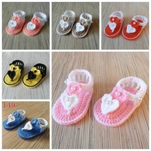 Baby Flip Flops Baby Boy Girl Knit Crochet Handmade Casual Socks Shoes 50pairs