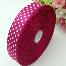 HL 1 roll (50yards) 18mm width printed dots satin ribbon wedding party decoration crafts making ribbon bows DIY accessories A936