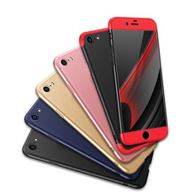 3 in 1 Detachable 360 Case Full Body Cover for fundas iphone 7 6 6s Plus+ Tempered Glass Shockproof Rugged Girls Case Rose Gold