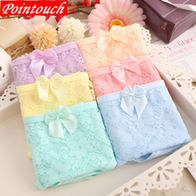Buy POINTOUCH Women Panties Sexy Cotton lingerie Lace Underwear Girls Fresh Cute Flower Briefs Lady Breathable Soft Underpants