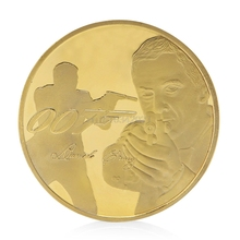 coin James Bond 007 Gold Plated Commemorative Challenge Coin Collection Souvenir Art