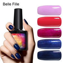 Belle Fille Gel Polish Colorful UV Gel Nail Polish Soak Off Candy Gel Polish UV LED Lamp Manicure Gel Nail Polish(China)