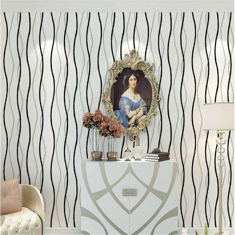 beibehang papier peint Scrubbing resistance of PVC embossing the sitting room TV setting wall paper wallpaper Vertical stripes <br>