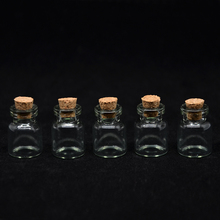 BZ-13 (100 pieces/lot) 1ML Mini Essential Oil Glass Bottles 1CC Empty Glass Vials Pendant,Small Charm Glass Bottle