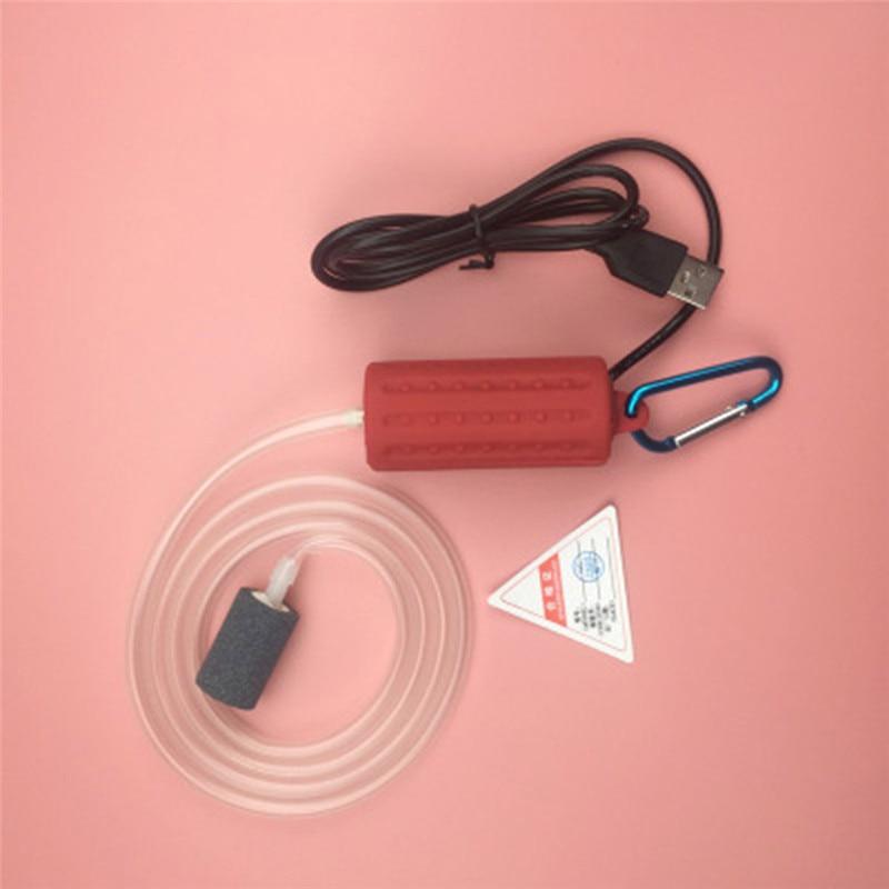 Aquarium Air Pump Portable Mini USB Oxygen Air Pump Mute Energy Saving Supplies Aquatic Terrarium Fish Tank Accessories 14