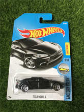 NEW 2017 Hot Wheels Black TESLA MODEL S Metal Diecast Cars Collection Kids Toys Vehicle For Children Juguetes Toy Gifts(China)