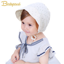 New Dot Cotton Baby Hat Summer Vintage Infant Bonnets for Girls 4-24 Months(China)