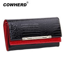 Luxury women wallets patent leather high quality designer brand wallet lady fashion clutch casual female purses party bag