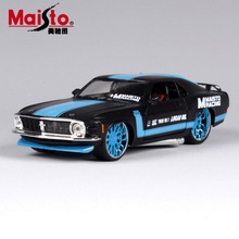 1:24 Scale children 1970 ford mustang boss 302 metal diecast race vintage style collectible model miniatures cars toys for kids