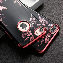 Case For Apple iPhone 6 6s 7 7 Plus Luxury Flower Butterfly Plating TPU Phone silicone soft Back Case Cover For iPhone 6 6s