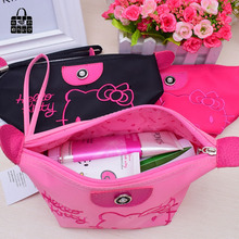 1pcs Women Portable Cute hello kitty Multifunction Beauty ZipperTravel Cosmetic Bag Makeup Case Toiletry Pouch Cosmetic Cases(China)
